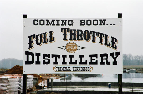 Full Throttle Distillery Sign - Coming Soon